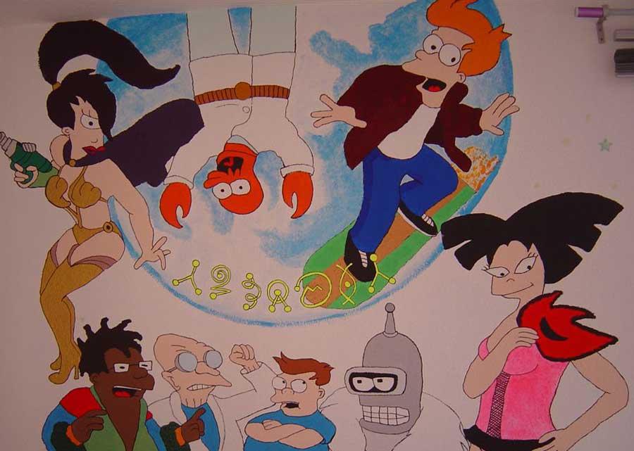 Das war mein Futurama Wandbild