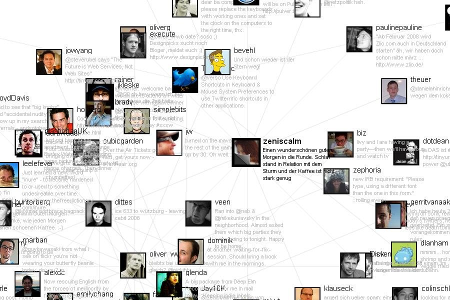 zeniscalms twitter friends network